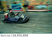 Купить «Kartbahn, boy, Gokart, outside, small dividing carriages, races, event, cirque separation, sport, hobby, leisure time, helped to pull», фото № 24416894, снято 19 ноября 2001 г. (c) mauritius images / Фотобанк Лори