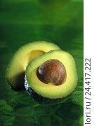 Купить «Avocado, halves, core, Avocato, avocado pear, lawyer's pear, alligator pear, fruit, fruit, avocado core, half, Still life», фото № 24417222, снято 26 июля 2001 г. (c) mauritius images / Фотобанк Лори