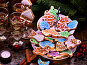 Many colored glazed cookies on Tiered, Cookie, Stand., фото № 24419254, снято 30 ноября 2016 г. (c) Gennadiy Poznyakov / Фотобанк Лори