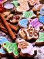 Long row of glazed cookies., фото № 24419538, снято 30 ноября 2016 г. (c) Gennadiy Poznyakov / Фотобанк Лори