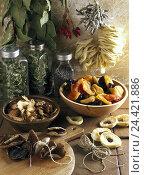 Купить «Dried fruit, herbs, spices, fungi, dryly, Still life, food, eat, preservation, preserve, preserves, dried fruit, fruits, dry fruits, edible mushrooms,...», фото № 24421886, снято 8 января 2002 г. (c) mauritius images / Фотобанк Лори