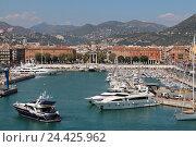 Порт в Ницце, Франция (2013 год). Редакционное фото, фотограф Daria Trefilova / Фотобанк Лори
