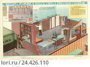 Купить «Плакат: Доставка, хранение и выдача хлеба в войсковой столовой», иллюстрация № 24426110 (c) Артем Сеттаров / Фотобанк Лори