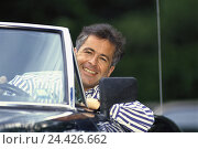 Купить «Cabriolet, man, happy, portrait, outside, convertible, car, vehicle, driver, motoring, go, journey, wait, excursion, summer, roof, opened, openly, joy, proudly, happy, balance, carefree nature», фото № 24426662, снято 17 сентября 2001 г. (c) mauritius images / Фотобанк Лори