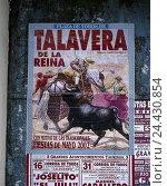Купить «Spain, Madrid, plaza de Toros, Reading Ventas, bullfight poster, Zentralspanien, town, capital, city centre, poster, announcement, predisplay, event, national sport», фото № 24430854, снято 15 октября 2002 г. (c) mauritius images / Фотобанк Лори