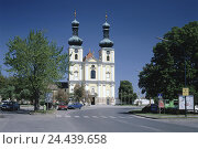 Купить «Austria, Burgenland, new colonist lake, Churches Our Lady, church the Assumption Day, holiday resort, destination, building, structure, church, steeples, clock towers, architecture», фото № 24439658, снято 24 мая 2002 г. (c) mauritius images / Фотобанк Лори