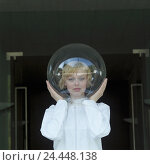 Купить «Woman, head, glass ball, allergy, disease, protection, isolation, defence, icon, conception, allergically, reaction, measure, counterweir, security, avoidance...», фото № 24448138, снято 15 октября 2018 г. (c) mauritius images / Фотобанк Лори