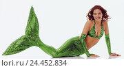 Купить «Mermaid, lie, tail fin, green, smile, woman, young, fin, water mind, sea spinster, sea woman, mythical figures, fairy tales, fairy tale shape, mermen,...», фото № 24452834, снято 15 августа 2018 г. (c) mauritius images / Фотобанк Лори