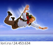 Купить «Composing, man, young, parachute crack, heaven, [M], concepts, fall, crack, parachuting, risk, courage, courageously, fun, thrill, enthusiastically, enthusiasm, parachute, free fall», фото № 24453634, снято 13 января 2006 г. (c) mauritius images / Фотобанк Лори