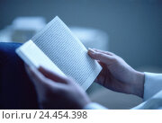 Купить «Woman, book, read, detail, leisure time, hobby, entertainment, literature, Roman, recreation, relaxing, switch off, sit, there take it easy, hands, book pages, inside», фото № 24454398, снято 22 декабря 2005 г. (c) mauritius images / Фотобанк Лори