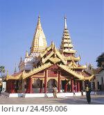 Купить «Myanmar, Bagan, Shwezigon pagoda, 11 cent., Asia, Indochina, Burma, pilgrim's site, building, structure, temple, pagoda, architectural style, Burmese,...», фото № 24459006, снято 28 ноября 2005 г. (c) mauritius images / Фотобанк Лори