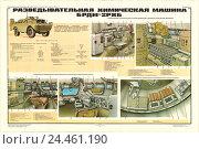 Плакат: Разведывательная химическая машина БРДМ-2РХБ. Редакционная иллюстрация, иллюстратор Артем Сеттаров / Фотобанк Лори
