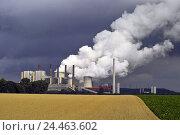 Купить «Germany, North Rhine-Westphalia, Grevenbroich-Neurath, coal-fired power station, Europe, North Rhine-Westphalia, Grevenbroich, Neurath, industrial zone...», фото № 24463602, снято 3 ноября 2004 г. (c) mauritius images / Фотобанк Лори