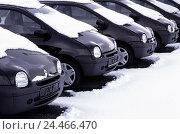 Купить «Cars, new carriages, series, snow, only editorially! Headlight, bonnet, windscreen, tyre, juxtaposition, season, winter, Diagonally, economy, industry...», фото № 24466470, снято 3 ноября 2005 г. (c) mauritius images / Фотобанк Лори