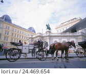 Купить «Austria, Vienna, space Albertina, Albertina, horse's carriage, Europe, street the emperors and kings, capital, town, cultural town, graphic collection...», фото № 24469654, снято 25 октября 2005 г. (c) mauritius images / Фотобанк Лори