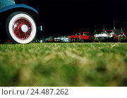Купить «Meadow, old-timer meetings, detail, evening,   Lawns, vehicles, Pkw's, cars, old-timers, valuable, collectibles, prestige, wealth, hobby, tires, Phonix 2003, old-timer auction», фото № 24487262, снято 18 января 2018 г. (c) mauritius images / Фотобанк Лори