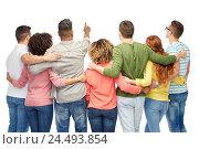 Купить «group of people pointing to something», фото № 24493854, снято 29 октября 2016 г. (c) Syda Productions / Фотобанк Лори