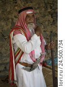 Купить «Saudi Arabia, Rijad Alma, man, clothes, traditionally, weapons, people, Arabs, museum directors, gun, traditional weapon, dagger, crooked dagger, Khanjar...», фото № 24500734, снято 11 января 2010 г. (c) mauritius images / Фотобанк Лори