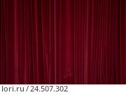 Купить «Curtain, red, closed, velvet curtain, curtain, velvet, drapery, film set, theatre, performance, performance, beginning, beginning, break, end,», фото № 24507302, снято 10 августа 2009 г. (c) mauritius images / Фотобанк Лори