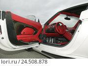 Купить «Gemballa Porsche 'Mirage GT', white, driver's door, opened, insight», фото № 24508878, снято 7 марта 2008 г. (c) mauritius images / Фотобанк Лори