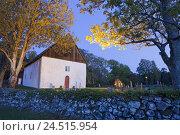 Купить «Norway, Ostfold, Kirköy, church, cemetery,», фото № 24515954, снято 19 августа 2018 г. (c) mauritius images / Фотобанк Лори