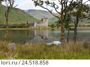 Купить «Great Britain, Scotland, Argyll and Bute, hole Awe, Kilchurn Castle,», фото № 24518858, снято 15 августа 2009 г. (c) mauritius images / Фотобанк Лори