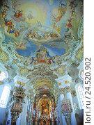 Купить «Germany, Bavaria, Steingaden, Wieskirche, ceiling fresco,», фото № 24520902, снято 17 февраля 2010 г. (c) mauritius images / Фотобанк Лори