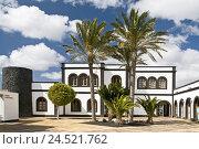 Купить «Spain, Canary islands, Lanzarote, Playa Blanca, yacht harbour 'Marina Rubicon', harbour command,», фото № 24521762, снято 15 апреля 2009 г. (c) mauritius images / Фотобанк Лори