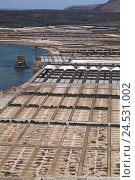 Купить «Spain, Canaries, island Lanzarote, Salinas de Janubio,», фото № 24531002, снято 23 марта 2018 г. (c) mauritius images / Фотобанк Лори