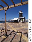Купить «Spain, Canaries, island Lanzarote, Playa Blanca, marina, lighthouse,», фото № 24531462, снято 20 марта 2018 г. (c) mauritius images / Фотобанк Лори