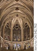 Купить «France, Paris, church Saint Séverin, inside, ribbed vault,», фото № 24542762, снято 15 июня 2008 г. (c) mauritius images / Фотобанк Лори