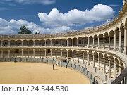 Купить «Spain, province Malaga, Andalusia, Ronda, bullfight arena, inside,», фото № 24544530, снято 19 августа 2018 г. (c) mauritius images / Фотобанк Лори
