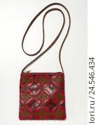 Купить «Handbag, shoulder strap, pattern, red,», фото № 24546434, снято 19 сентября 2018 г. (c) mauritius images / Фотобанк Лори