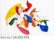 Купить «Balloons, bursts, cable, studio, cut out, burst, balloons, play, colours, brightly, broken, children's birthday party, childhood, transitoriness, destruction, different ones,», фото № 24550978, снято 18 июня 2008 г. (c) mauritius images / Фотобанк Лори