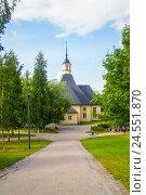 Лютеранская церковь святого Лаппе в Финляндии (2011 год). Стоковое фото, фотограф Sergei Gorin / Фотобанк Лори