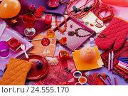 Купить «Motley collection, red, orange, mauve,», фото № 24555170, снято 25 июня 2008 г. (c) mauritius images / Фотобанк Лори