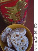 Купить «Lotus rootn, candies, slices, food, sweetly, candy, in Chinese, Lotos, peel, bowl, figure, Kanji, tin, landscape format, studio ,», фото № 24561170, снято 19 августа 2018 г. (c) mauritius images / Фотобанк Лори