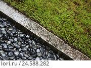 Купить «Japanese garden, pebbles, moss, bezel, moisture, grey, green, Japan, Kyoto,», фото № 24588282, снято 16 ноября 2007 г. (c) mauritius images / Фотобанк Лори