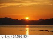 Закат на море. Стоковое фото, фотограф Daria Trefilova / Фотобанк Лори