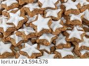 Купить «Cinnamon stars, medium close-up,», фото № 24594578, снято 15 декабря 2010 г. (c) mauritius images / Фотобанк Лори