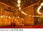 Купить «Egypt, Cairo, Mosque of Muhammad Ali, prayer niche 'Mihrab' and pulpit 'Minbar',», фото № 24598866, снято 18 октября 2018 г. (c) mauritius images / Фотобанк Лори