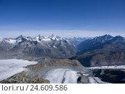 Купить «Switzerland, Valais, Cerium-weakly, small Matterhorn, Theodulgletscher, glacier tongue, matt valley,», фото № 24609586, снято 28 октября 2008 г. (c) mauritius images / Фотобанк Лори