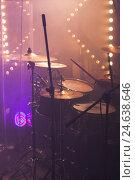 Купить «Rock drum set with cymbals», фото № 24638646, снято 11 декабря 2016 г. (c) EugeneSergeev / Фотобанк Лори