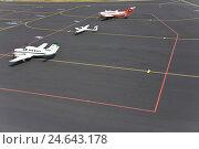 Купить «Germany, airport, landing field, propeller aircrafts,», фото № 24643178, снято 12 января 2009 г. (c) mauritius images / Фотобанк Лори