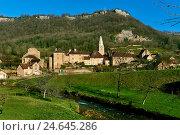 Бом-ле-Мсье деревня. Франция (2016 год). Стоковое фото, фотограф Alexander Tihonovs / Фотобанк Лори