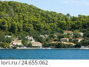 Купить «Croatia, Dalmatia, island Mljet, Babine Kuce in the Veliko Jezero,», фото № 24655062, снято 15 сентября 2011 г. (c) mauritius images / Фотобанк Лори