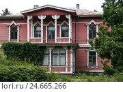 Купить «Latvia, Liepaja (Liebau), street, typical buildings,», фото № 24665266, снято 20 октября 2018 г. (c) mauritius images / Фотобанк Лори