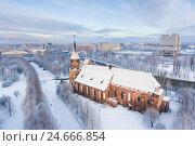 Купить «Кафедральный собор зимой, Калининград», фото № 24666854, снято 4 декабря 2016 г. (c) Константин Тронин / Фотобанк Лори