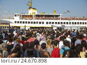 Купить «Turkey, Istanbul, prince's islands in the Marmarameer, Kinaliada ferry to Istanbul,», фото № 24670898, снято 15 июля 2011 г. (c) mauritius images / Фотобанк Лори