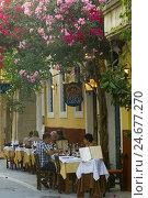 Купить «Greece, Crete, Rethymnon, Taverna Larentzo in the Odos Radamanthous in the Old Town,», фото № 24677270, снято 1 июня 2008 г. (c) mauritius images / Фотобанк Лори